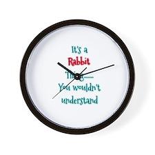 Rabbit Thing Wall Clock