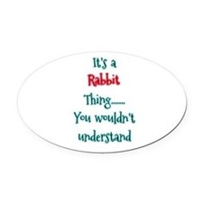 Rabbit Thing Oval Car Magnet