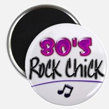 80's Rock Chick with Black Notes Magnets