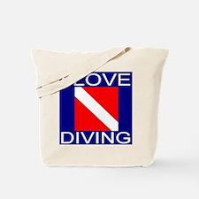 I Love Diving Tote Bag