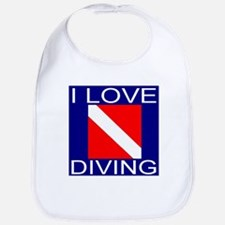 I Love Diving Bib
