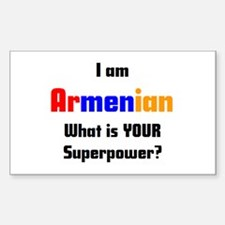 i am armenian Decal