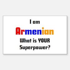 i am armenian Sticker (Rectangle)