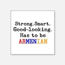 "be armenian Square Sticker 3"" x 3"""