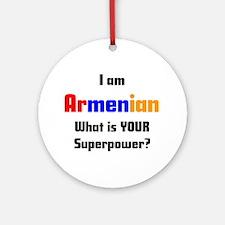 i am armenian Ornament (Round)