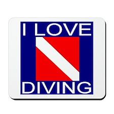 I Love Diving Mousepad