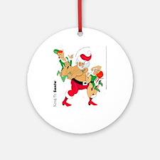 Kung Fu Santa Ornament (Round)