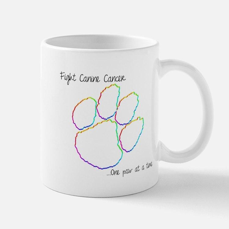 Canine Cancer Paw Mug