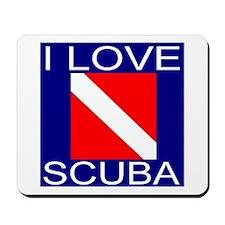 I Love Scuba Mousepad
