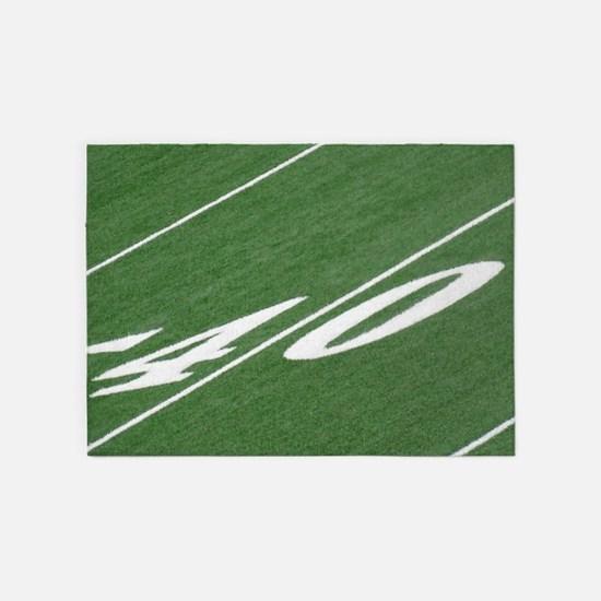 40 Yard Line 5'x7'Area Rug