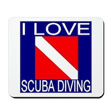 I Love Scuba Diving Mousepad