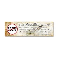 Stop Mandatory Vaccines Car Magnet 10 x 3