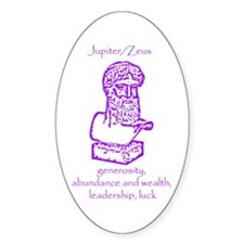 Jupiter/Zeus Violet Oval Decal