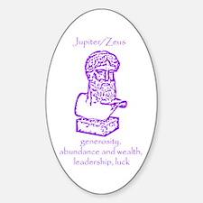 Jupiter/Zeus Violet Oval Decal