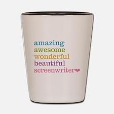 Amazing Screenwriter Shot Glass