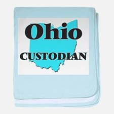 Ohio Custodian baby blanket