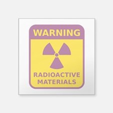 Radioactive Materials Warning Sign Sticker