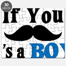 If You Mustache, It's a Boy Puzzle
