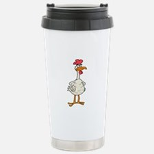 Angry Chicken Stainless Steel Travel Mug