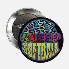 "Eat Sleep Softball Wild 2.25"" Button (10 Pack"