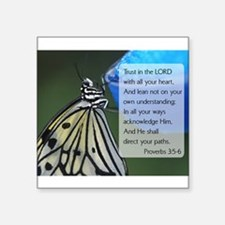 "Cute Moths Square Sticker 3"" x 3"""