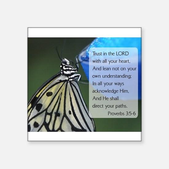 "Funny Moths Square Sticker 3"" x 3"""