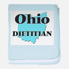 Ohio Dietitian baby blanket