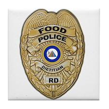 Food Police Tile Coaster