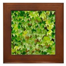 Ivy Covered Wall Framed Tile