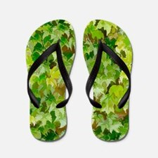 Ivy Covered Wall Flip Flops