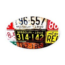 Show me State. Oval Car Magnet