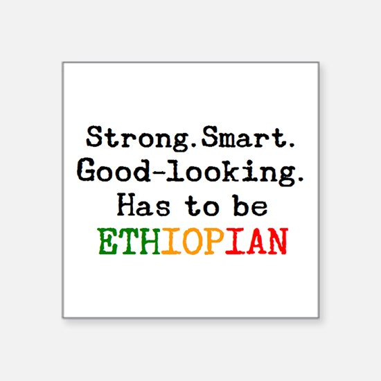 "be ethiopian Square Sticker 3"" x 3"""