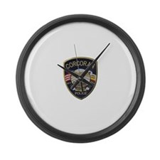 Corcoran Police Large Wall Clock