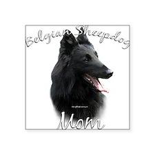 """Cute Belgian sheepdog Square Sticker 3"""" x 3"""""""