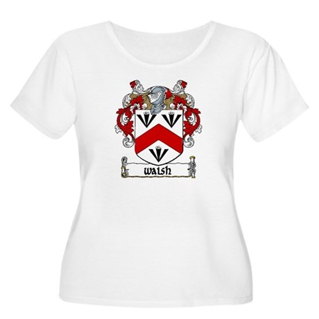 Walsh Coat of Arms Women's Plus Size Scoop Neck T-