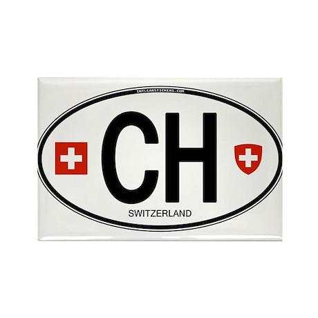 Switzerland Euro Oval Rectangle Magnet