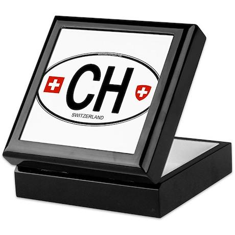 Switzerland Euro Oval Keepsake Box