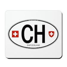 Switzerland Euro Oval Mousepad