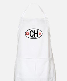 Switzerland Euro Oval BBQ Apron