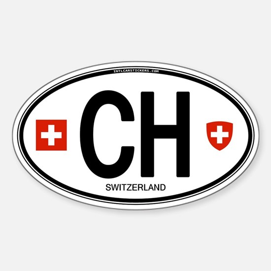 Switzerland Euro Oval Oval Decal