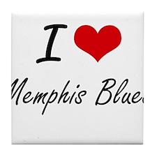 I Love MEMPHIS BLUES Tile Coaster