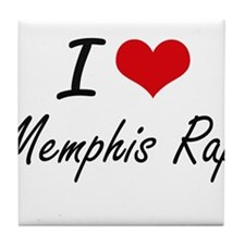 I Love MEMPHIS RAP Tile Coaster