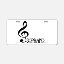 Soprano Aluminum License Plate