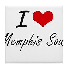 I Love MEMPHIS SOUL Tile Coaster