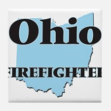 Ohio Firefighter Tile Coaster