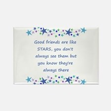 Good Friends are like Stars Inspirational Quote Ma