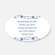 Good Friends are like Stars Inspirational Quote Ov