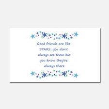 Good Friends are like Stars Inspirational Quote Ca