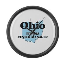 Ohio Fitness Center Manager Large Wall Clock