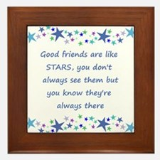 Good Friends are like Stars Inspirational Quote Fr